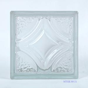 Gạch kính Indonesia tim thoi trắng MTGK 00121-001