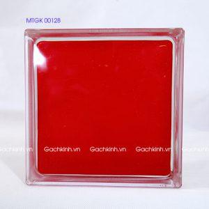 Gạch kính Indonesia mặt phẳng đỏ mịn MTGK 00128-1