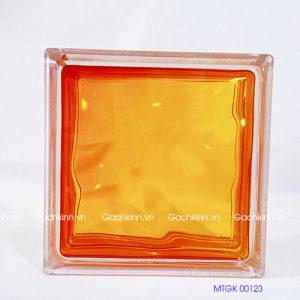 Gạch kính Indonesia màu đỏ cam tươi MTGK 00123