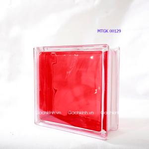 Gạch kính Indonesia vân mây màu đỏ tươi MTGK 00129-3
