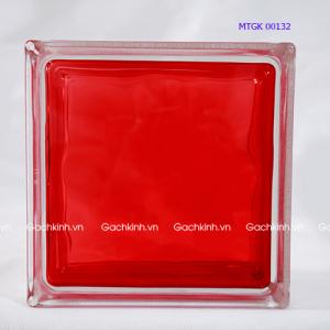 Gạch kính Indonesia vân phẳng màu đỏ tươi MTGK 00132-4